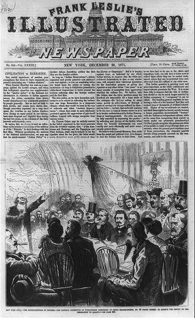 New York City - the Internationals in council - the Federal Committee of Workingmen assembled at their headquarters, No. 68 Grand Street, to receive the report of the delegation to Albany