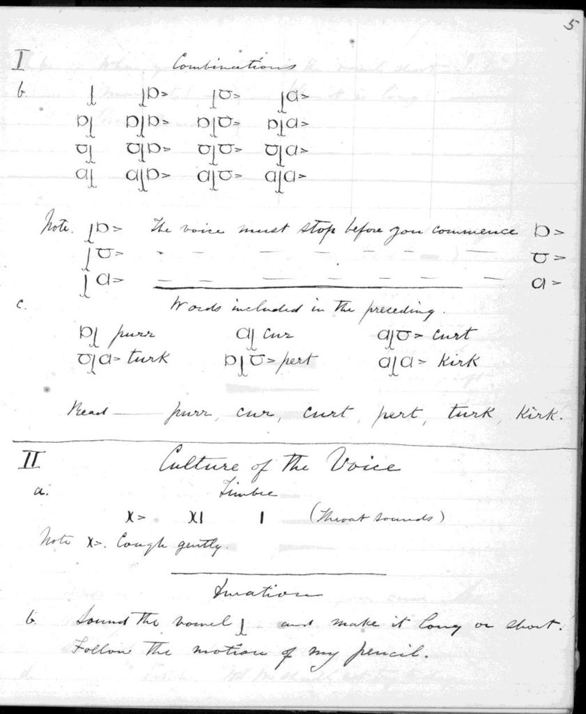 Notebook by Alexander Graham Bell, from September 7, 1871 to February 15, 1872