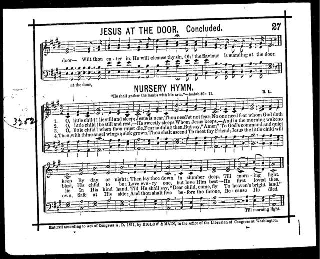 Nursery hymn