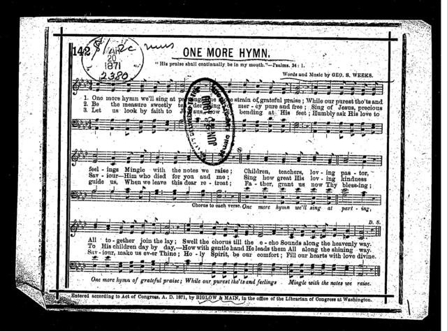 One more hymn