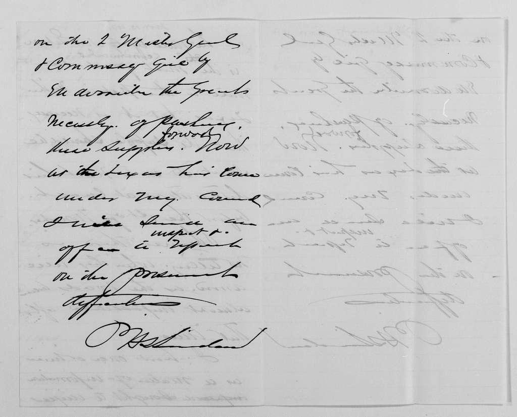 Philip Henry Sheridan Papers: General Correspondence, 1853-1888; 1871; Nov. 2-13