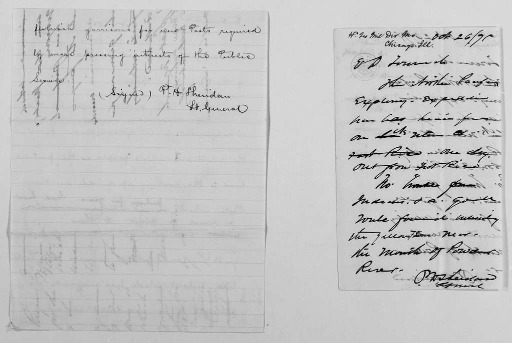Philip Henry Sheridan Papers: General Correspondence, 1853-1888; 1871; Oct