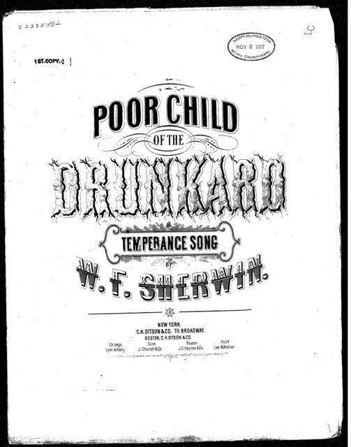 Poor child of the drunkard