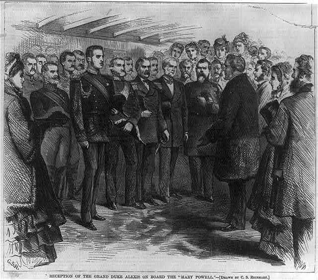 Reception of the Grand Duke Alexis on board the MARY POWELL [New York City]