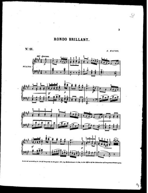Rondo brillant (Mozart, Beethoven, Haydn)