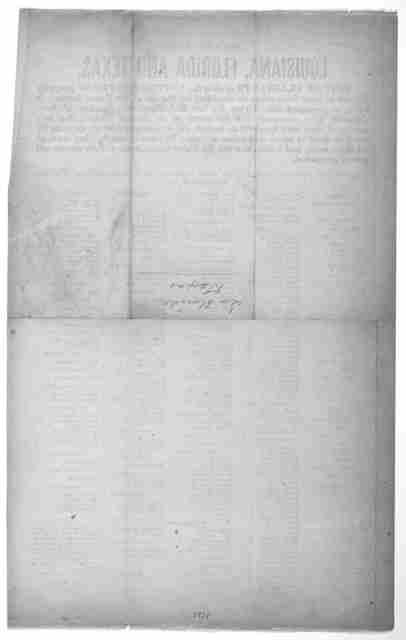 Second list. Louisiana, Florida and Texas. List of claimants against the United States for property alleged to have been taken or furnished for the use of the Union armies; it being represented that during the late rebellion the sympathies of th