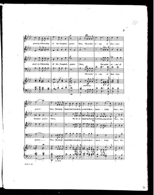 Te Deum in A-flat (Music of Church of the Holy Tri