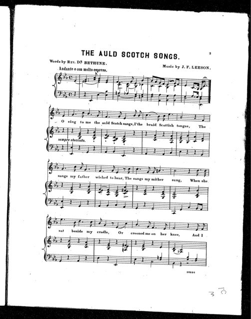 The  Auld Scotch songs