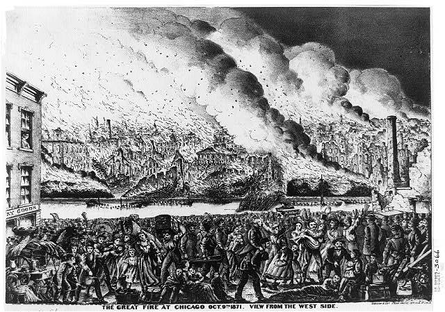 Image result for the great fire of chicago