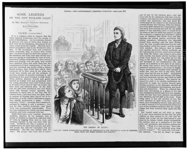 """The legend of Salem: """"The Rev. George Burroughs was accused of witchcraft on the evidence of feats of strength, tried, hung, and buried beneath the gallows"""""""