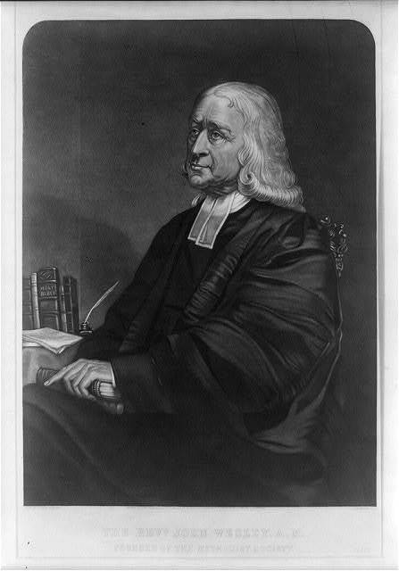 The Revd. John Wesley. A.M. Founder of the Methodist Society