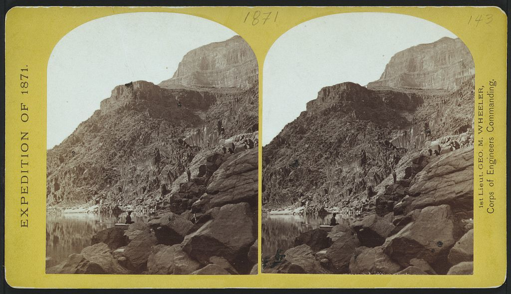 View of Grand Cañon walls, near mouth of Diamond River.