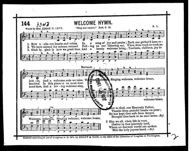 Welcome hymn