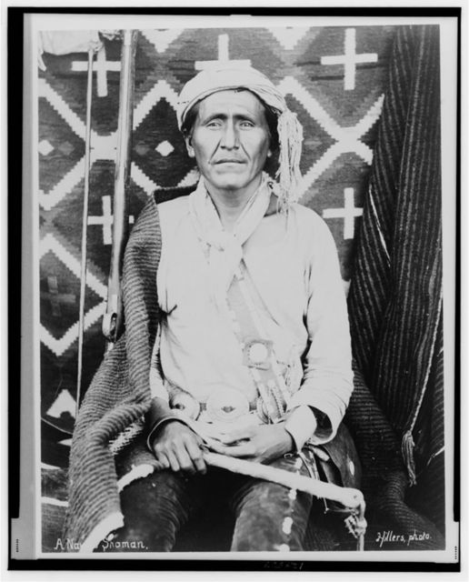 A Navaho shaman / Hillers, photo.