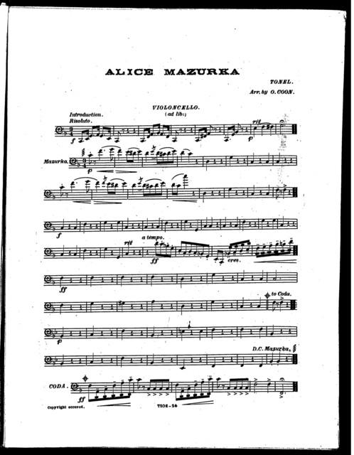 Alice Mazurka (Peter's Orchestral Journal)
