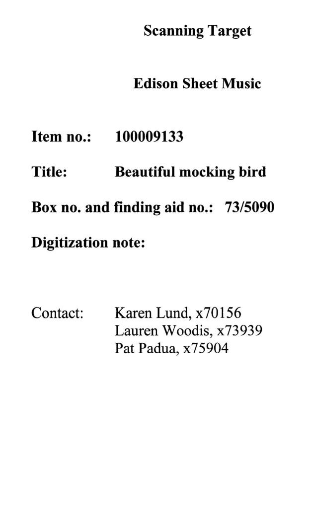 Beautiful mocking bird