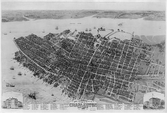 Bird's eye view of the city of Charleston South Carolina 1872 / C. Drie, lithographer.