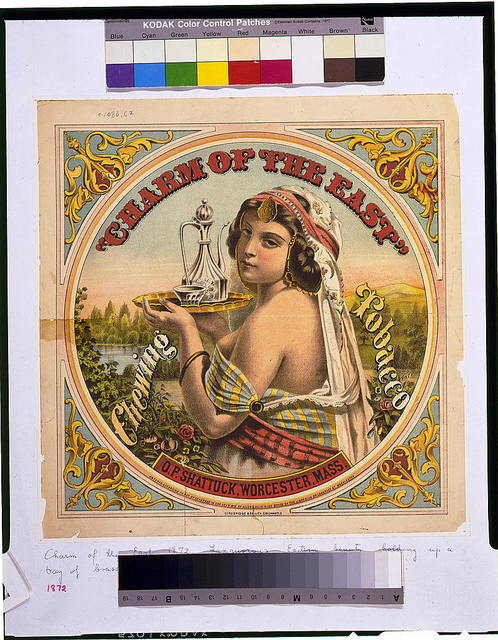 Charm of the East--Chewing tobacco--O.P. Shattuck, Worcester, Mass. / Strobridge & Co. Lith. Cincinnati, O.