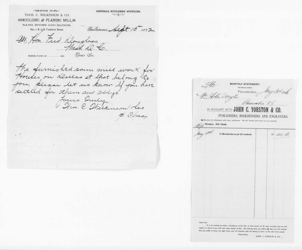 General Accounts, 1872-1903 and Undated - Folder 2 of 5