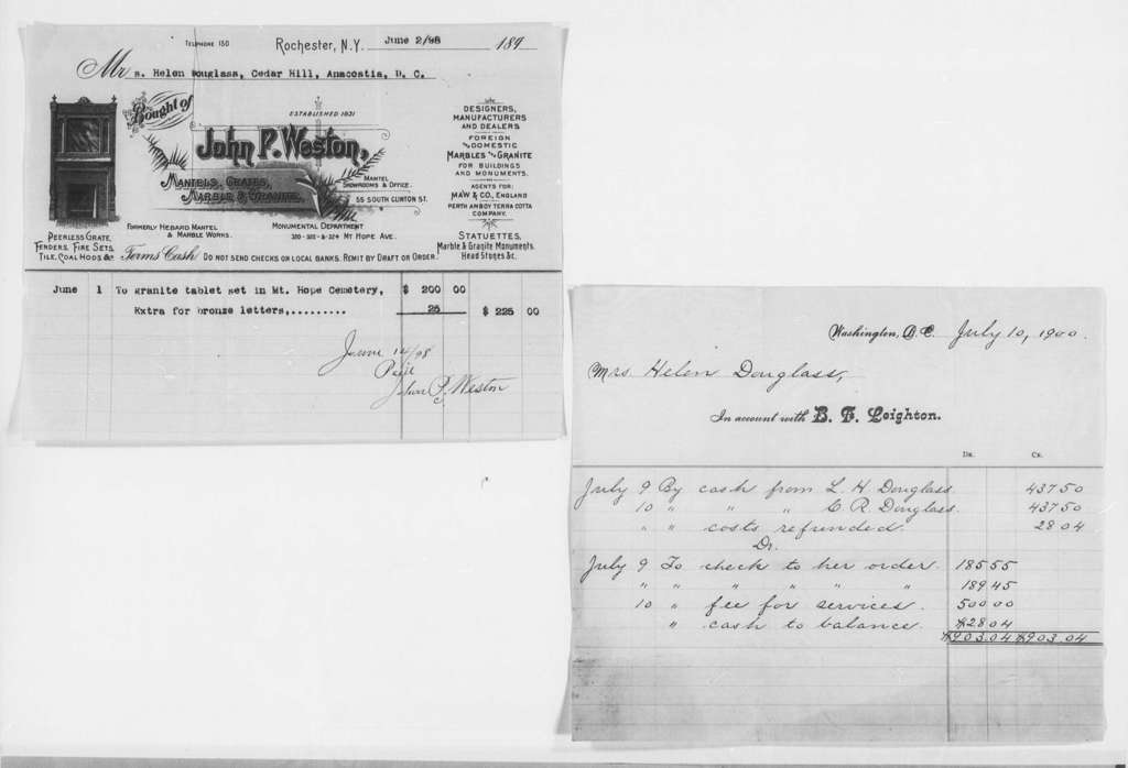 General Accounts, 1872-1903 and Undated - Folder 5 of 5