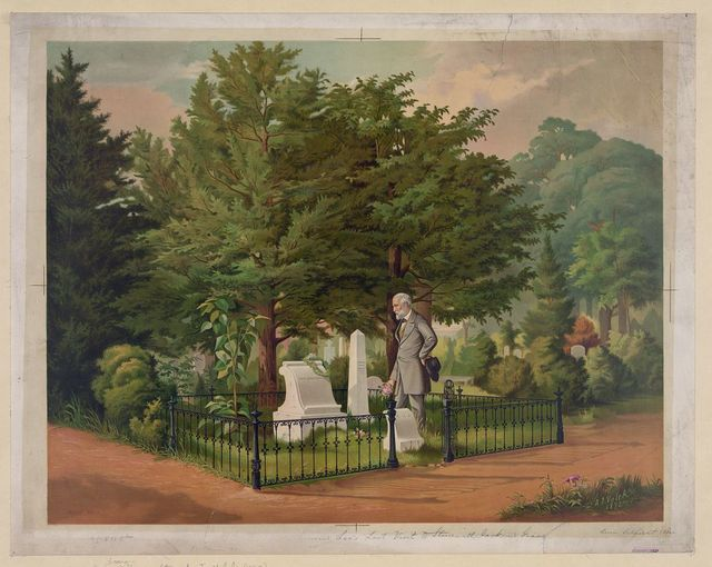 General Lee's last visit to Stonewall Jackson's grave