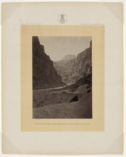 Grand Cañon of the Colorado River, mouth of Kanab Wash, looking west / W. Bell, phot.
