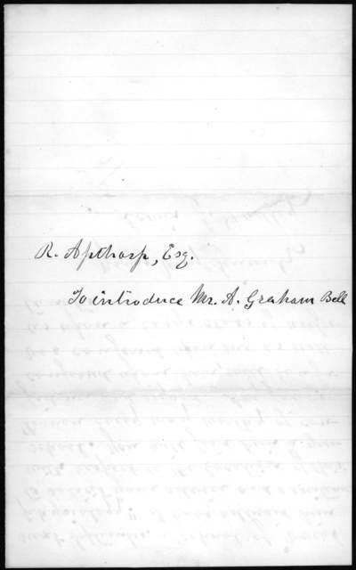 Letter from Lewis J. Dudley to R. Apthorp, June 22, 1872