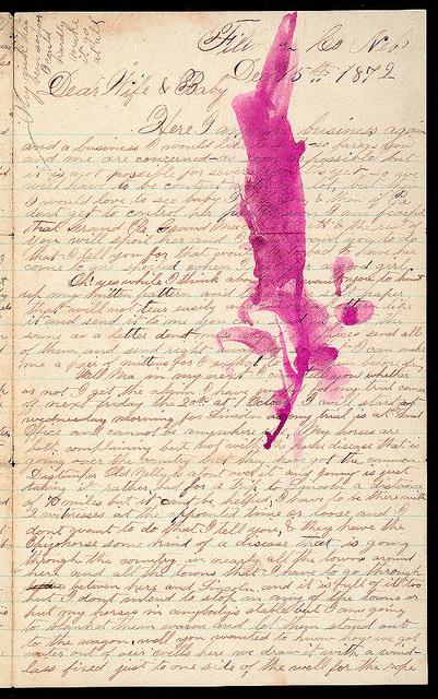 Letter from Uriah W. Oblinger to Mattie V. Oblinger and Ella Oblinger, December 15, 1872