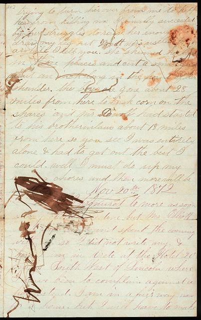 Letter from Uriah W. Oblinger to Mattie V. Oblinger and Ella Oblinger, November 17, 1872