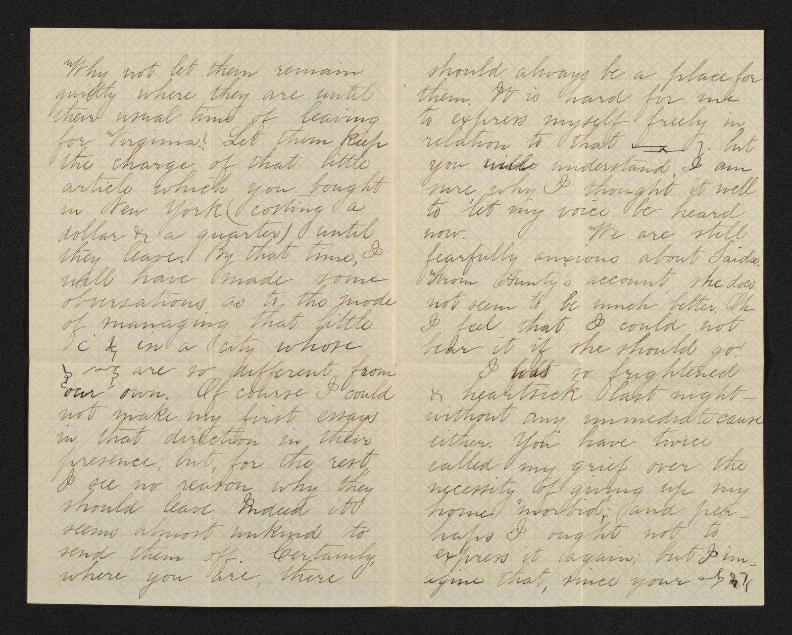 Lewis H. Machen Family Papers: Machen-Gresham Correspondence, 1871-1889; Gresham, Minnie, to Machen, Arthur W.; 1872