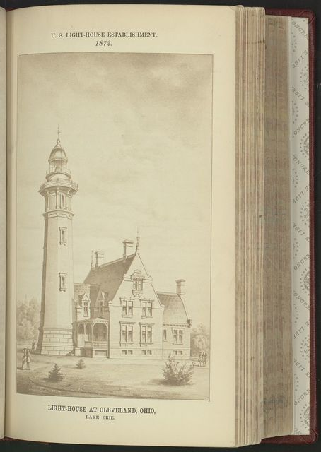 Light-house at Cleveland, Ohio, Lake Erie