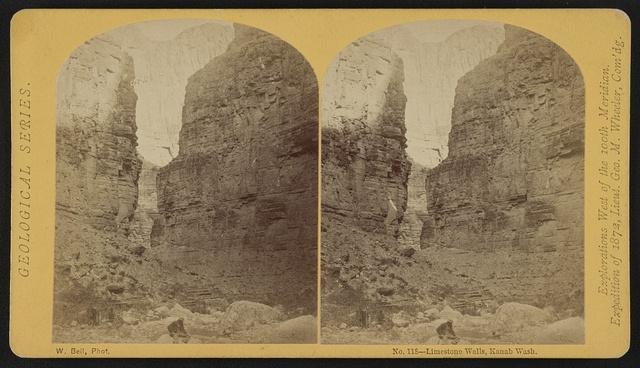 Limestone walls, Kanab Wash / W. Bell, Phot.