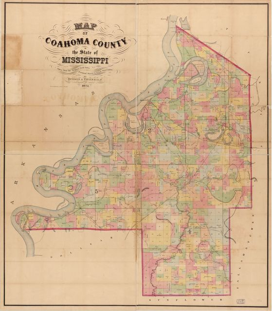 Map of Coahoma County in the state of Mississippi : taken from the original field notes, personal survey & actual observations /