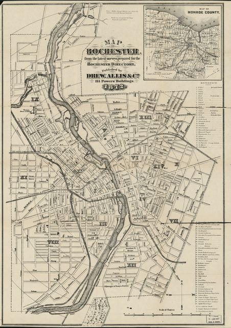 Map of Rochester : from the latest surveys /