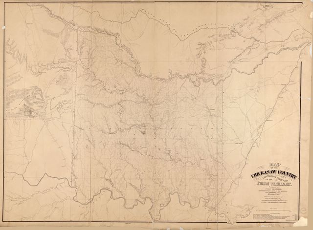 Map of the Chickasaw country : and contiguous portions of the Indian Territory /