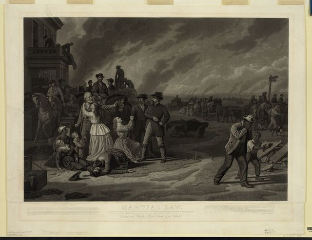 Martial law / engraved by John Sartain.