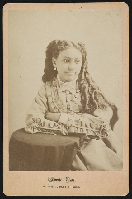 Minnie Tate, of the Jubilee singers / negative by Black.