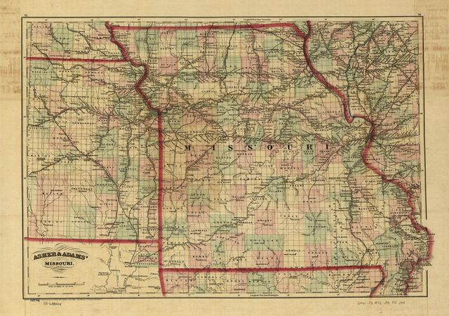 [New commercial and topographical rail road map & guide of Missouri].