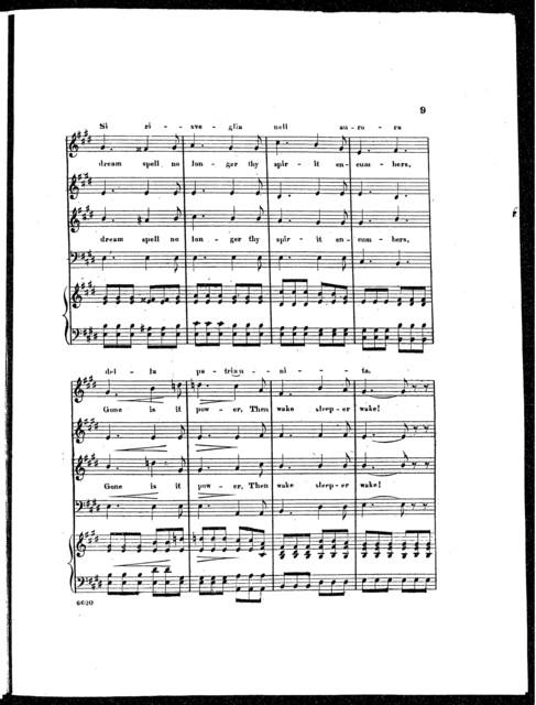 Opening chorus, Act 3d, Rip van winkle