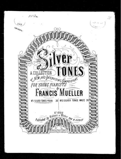 Silver tones polka