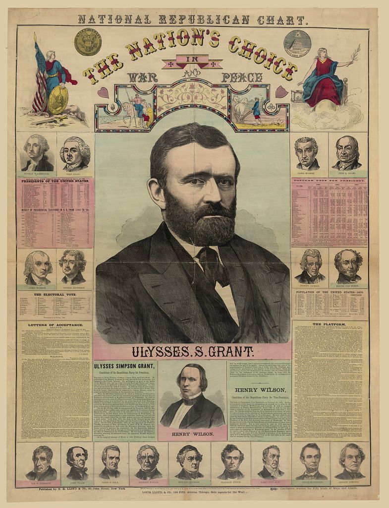 The Republican chart. The nation's choice in war and peace Ulysses S. Grant / M.T. Boyd.