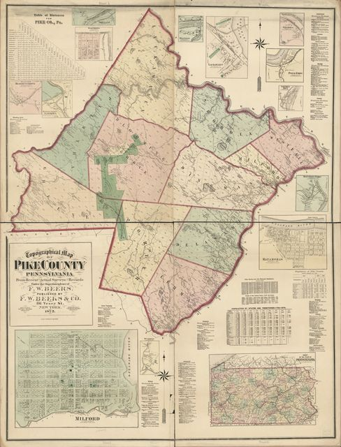 Topographical map of Pike County, Pennsylvania : from recent and actual surveys and records /