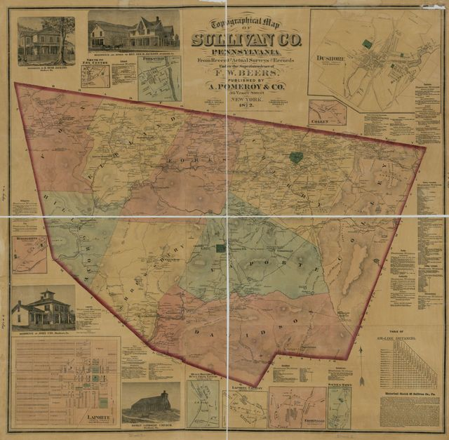 Topographical map of Sullivan Co., Pennsylvania : from recent and actual surveys and records /