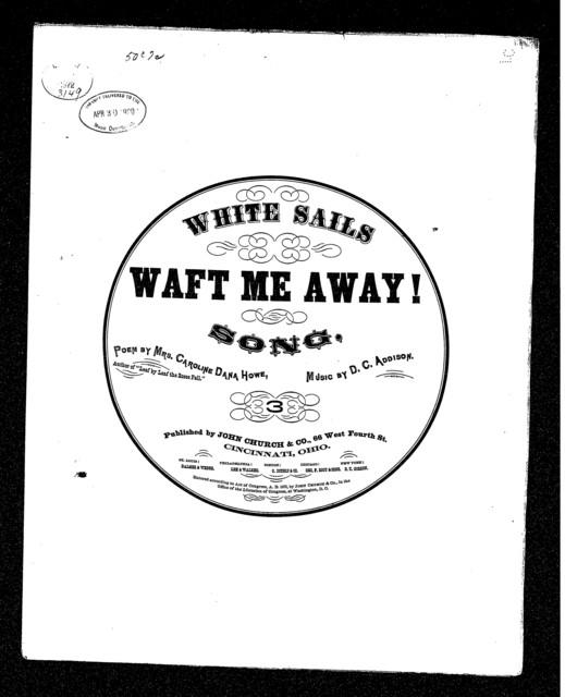 White sails waft me away