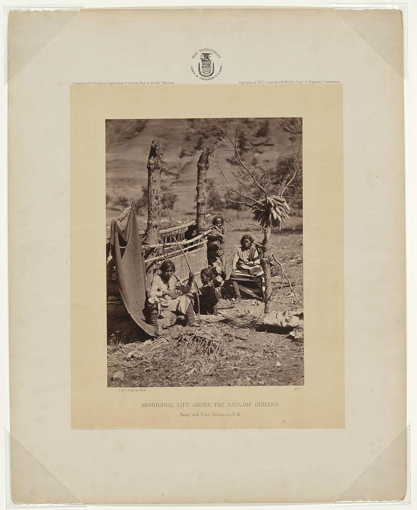 Aboriginal life among the Navajoe Indians. Near old Fort Defiance, N.M. / T. H. O'Sullivan, phot.