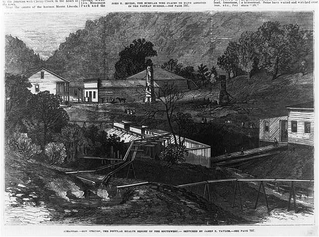 Arkansas. Hot Springs, the popular health resort of the southwest / sketched by James E. Taylor.