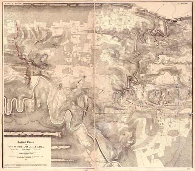 Battle fields of Fisher's Hill [22 Sept. 1864] and Cedar Creek [19 Oct. 1864], Virginia /