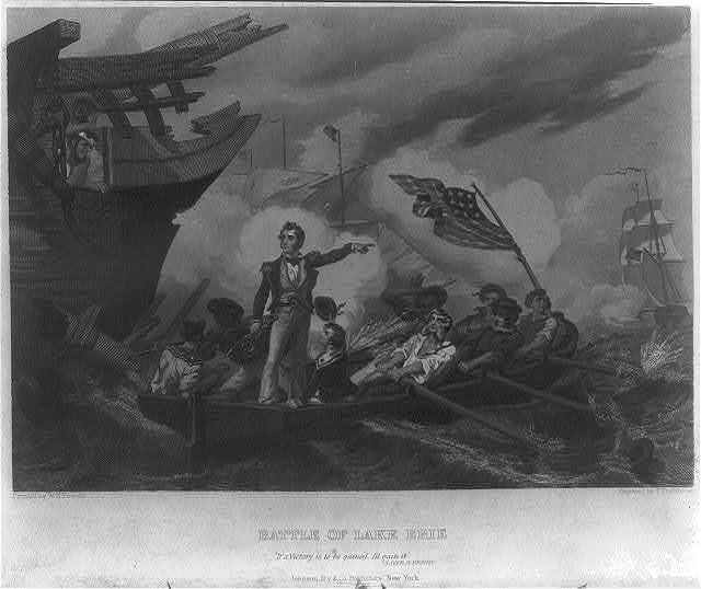 Battle of Lake Erie / painted by W.H. Powell ; engraved by T. Phillibrown.