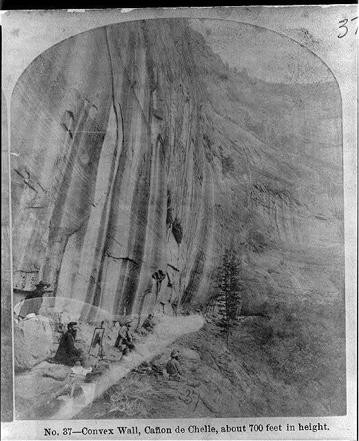 Convex wall, Cañon de Chelle, about 700 feet in height.