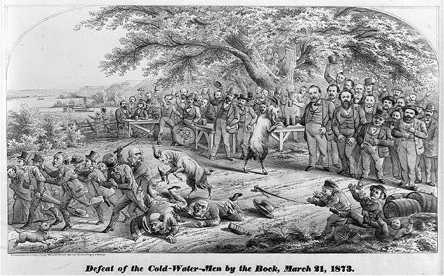 Defeat of the cold-water-men by the bock, March 21, 1873 / E. Bott.